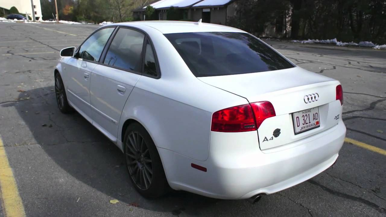 2008 Audi A4 SLine For Sale at Portland Saab In Scarborugh ME