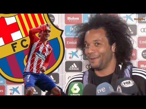La cómica reacción de Marcelo cuando le dicen que Griezmann podría fichar por el Barca se hace viral