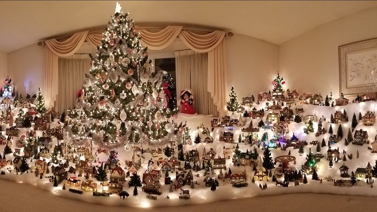 Christmas Village Display.Massive Christmas Village Display With Time Lapse