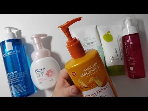 Средства для очищения кожи лица, которыми я пользуюсь в настоящее время