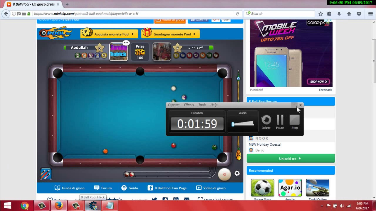 8 Ball Pool All Room Long Line Hack Trainer Hack Trainer 100%Working 2017 -