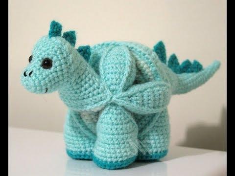 уроки вязания динозавр крючком игрушка головоломка урок 2 видео