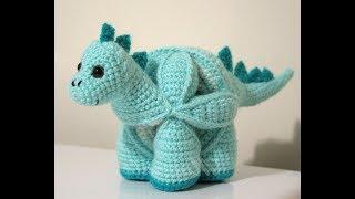 Уроки вязания. Динозавр крючком. Игрушка-головоломка. Урок 2