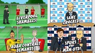 💷Aubameyang flies to London on private jet! 🚑Sane INJURED! 🤣 🚌Tottenham vs Man Utd PREVIEW