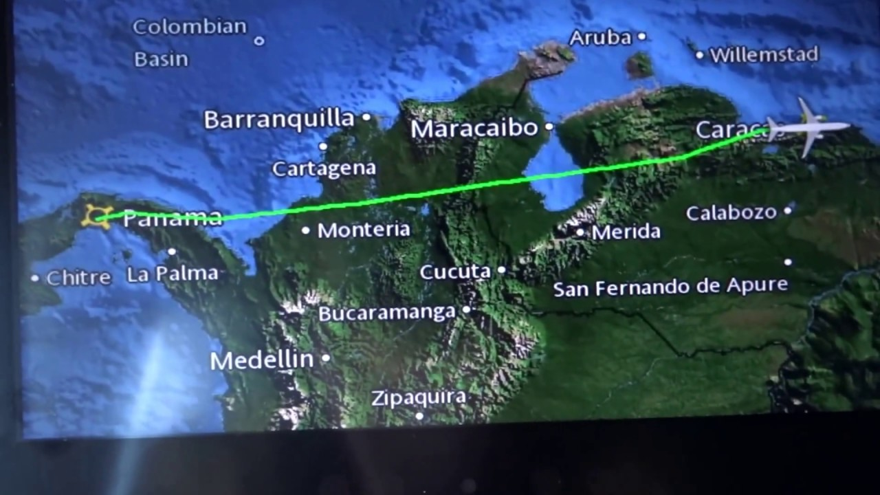 Copa airlines flight 224 Panama City to Caracas, Venezuela landing