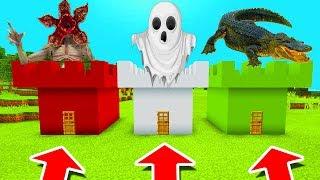 Minecraft PE : DO NOT CHOOSE THE WRONG CASTLE! (Demogorgon, Ghost & Alligator)