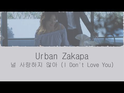 널 사랑하지 않아 (I Don't Love You) - 어반자카파 (Urban Zakapa) [HAN/ROM/ENG LYRICS]