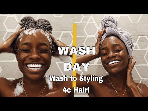 MY WASH DAY ROUTINE START TO FINISH 4C NATURAL HAIR