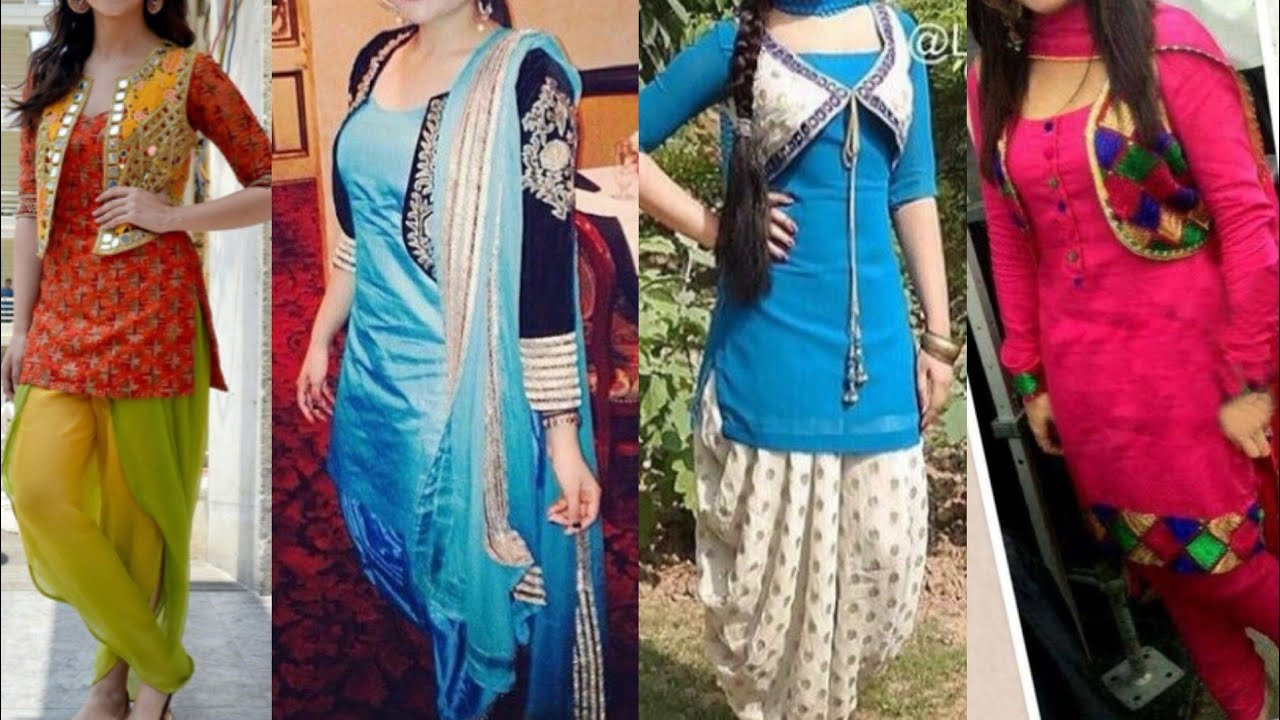 b16ba62012 Punjabi Salwar suit with Embroidered jacket designs/patiala Salwar kurta  with jacket collection