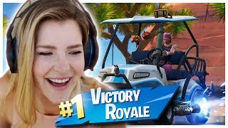 ALL TERRAIN KART RACING w/ Pokimane, FaZe Cizzorz & CourageJD (Fortnite: Battle Royale) | KittyPlays