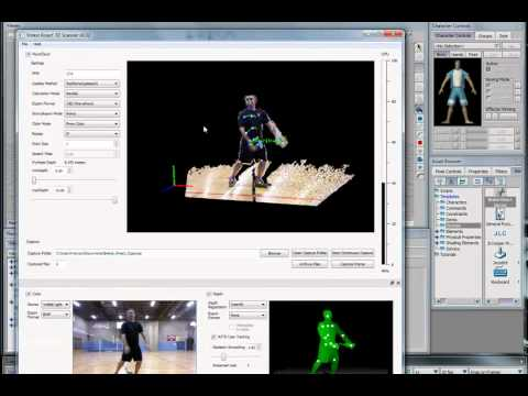 Kinect and Unity Test - Motion Capture (Beta) | FunnyDog.TV