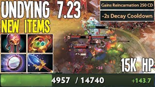 7.23 New Undying Favourite Items 15K HP Lvl 30 | Dota 2 Silly Builds