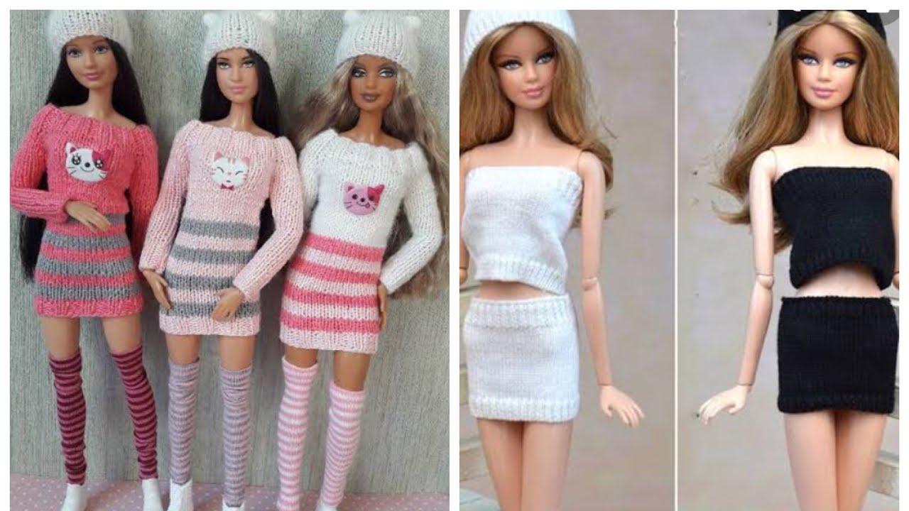 Barbie elbise yapımı | DIY | Çoraptan kendin yap ~ 5 dakikada hallet / Barbie kıyafetleri