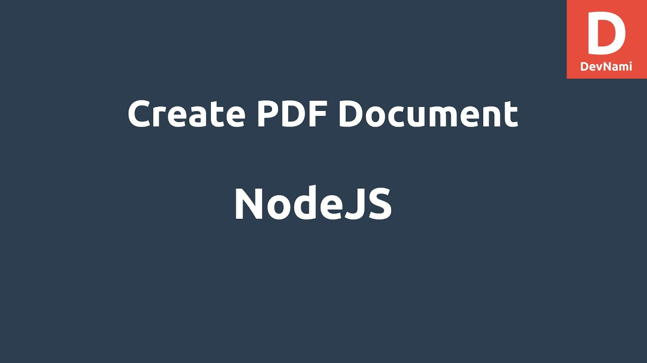 NodeJS Create PDF Document