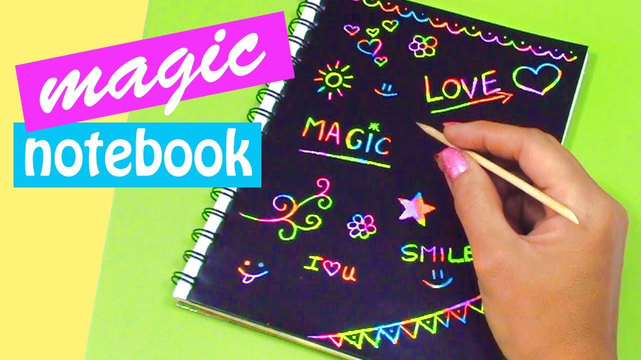 Diy Crafts Magic Notebook Back To School Innova Crafts Youtube