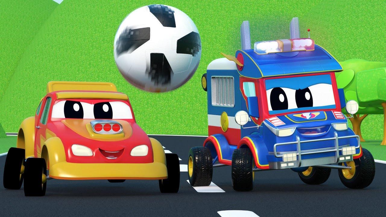 Video truk untuk anak-anak - KEMBALI KE SEKOLAH: BAYI MOBIL punya jus - Truk Super di Kota Mobil!