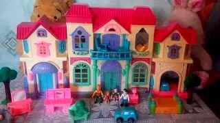 Family House, Doll house, dog, toy , Кукольный дом