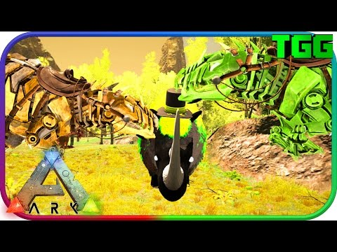 Ark Survival Evolved | Bionic Giga Tames, Rhino Warden Battles #24 (Modded Ark)