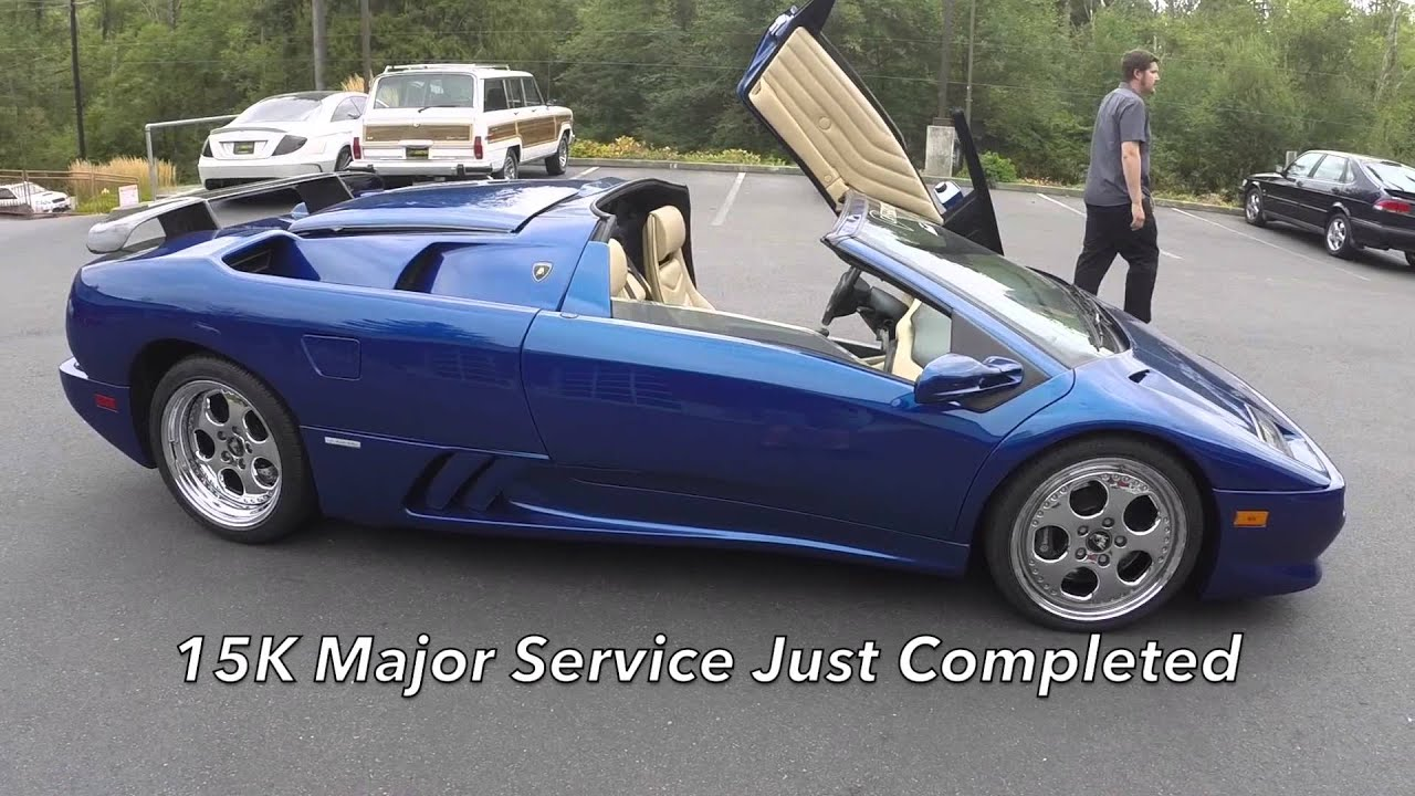 1999 Lamborghini Diablo Vt Roadster Youtube