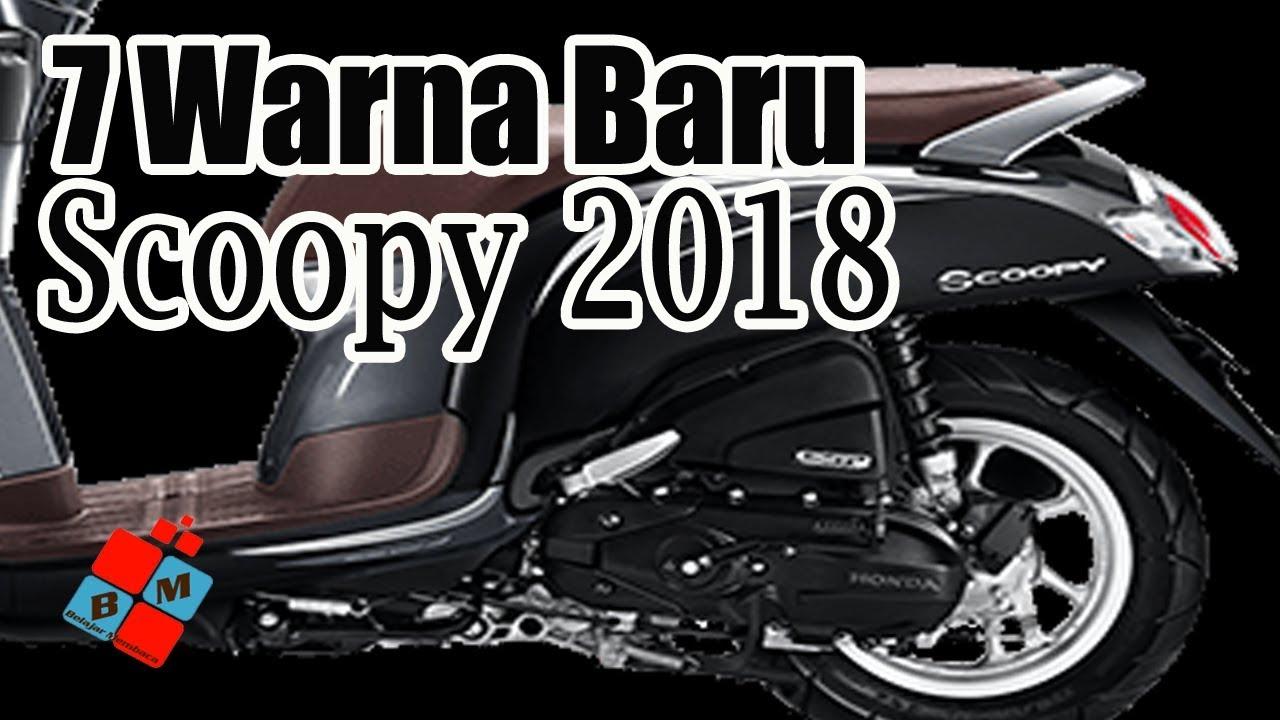 Rilis Resmi Warna Terbaru New Honda Scoopy 2018 Apa Warna