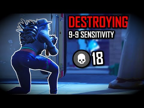 DESTROYING on 9-9 Sensitivity | 18 Kills Solo (Xbox) Fortnite Battle Royale