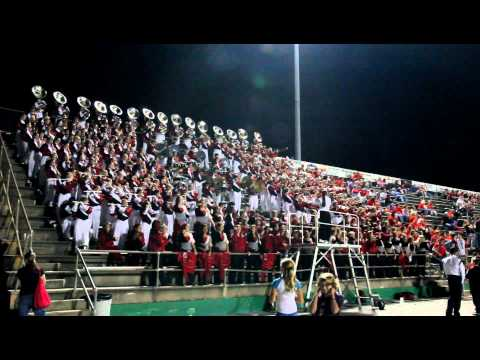 """""""The Big Red Machine"""" in the stands at Choctawhatchee Senior High School 10-12-12 (Part 3)"""