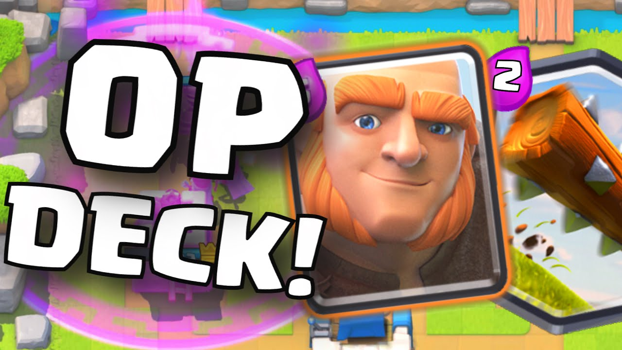 Clash royale new undefeated unbeatable giant log deck