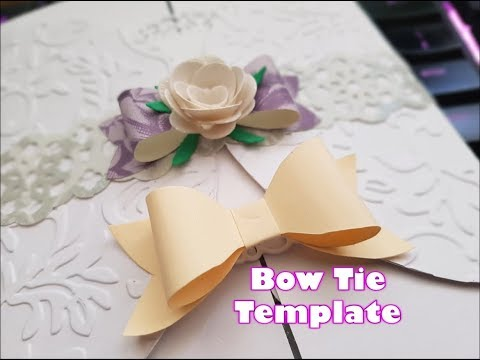Make your own paper BOW TIE TEMPLATE tutorial