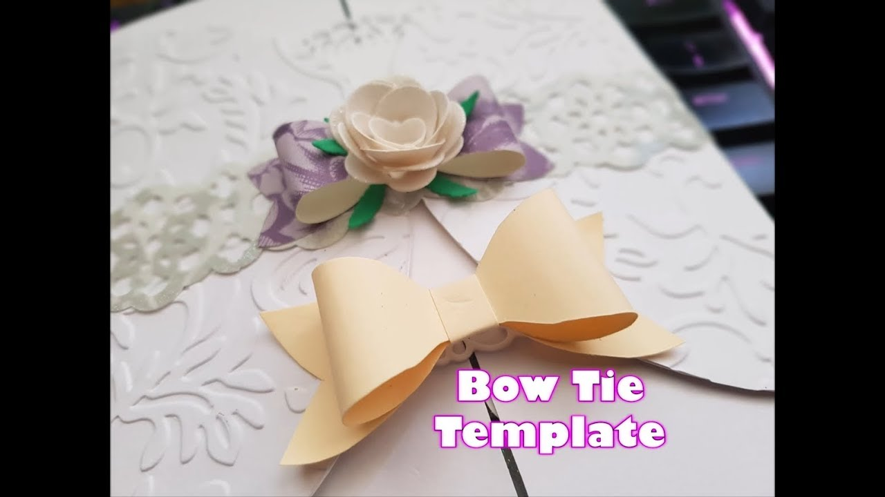 Make Your Own Paper Bow Tie Template Tutorial Youtube