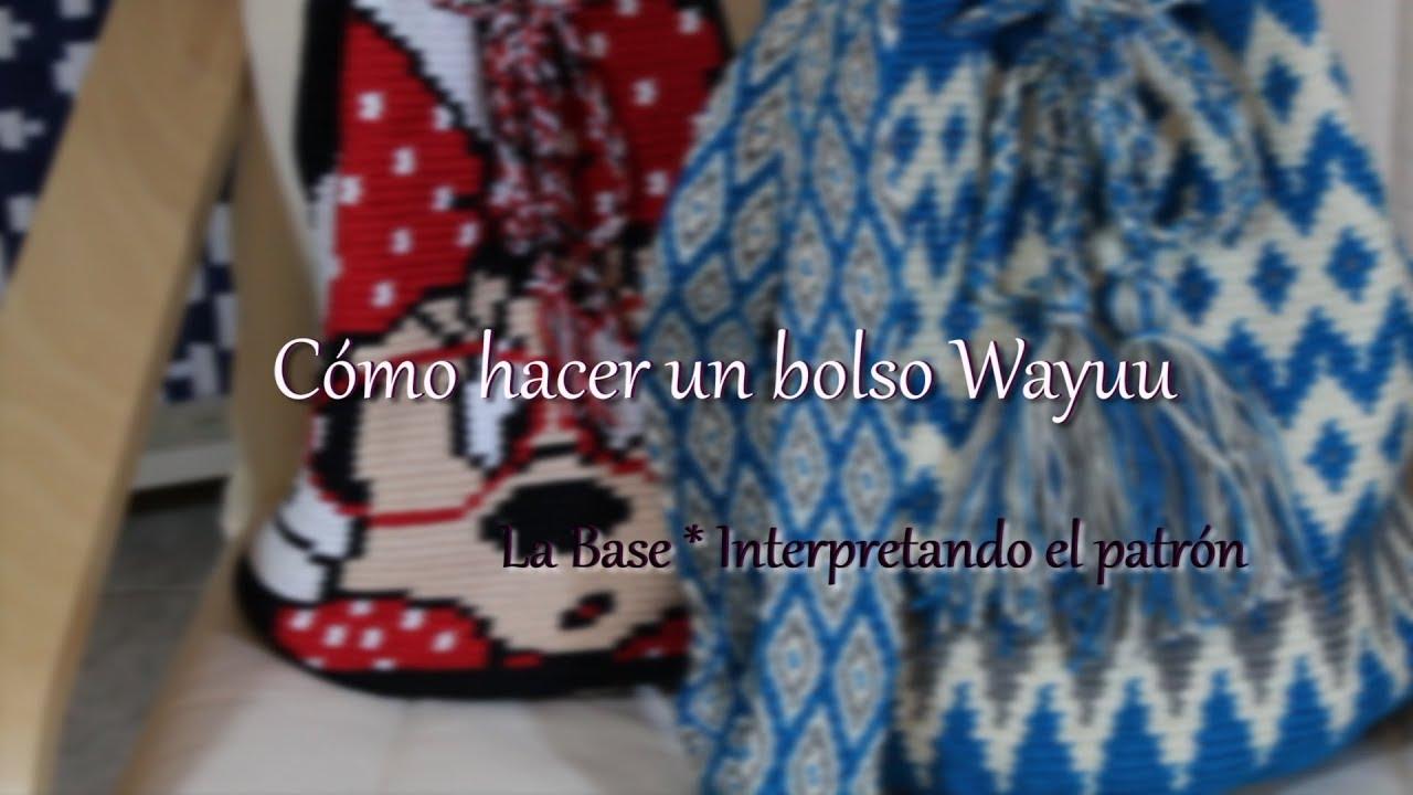 Cómo hacer un bolso Wayuu 2 * La Base *Interpretando el patrón ...