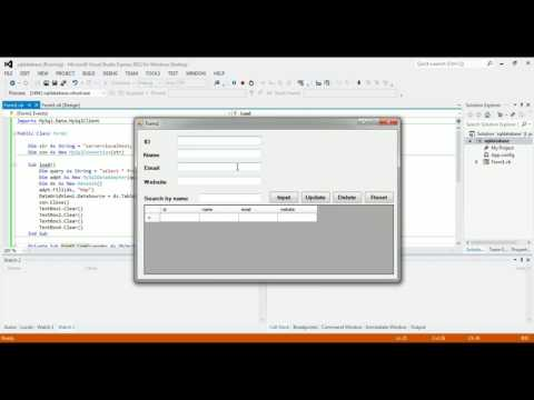 VB.NET and SQL (XAMPP) | insert, update, delete, search [CRUD]