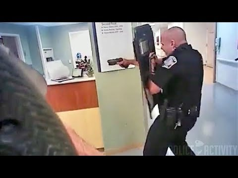RAW Bodycam Footage Of Cops Shooting Armed Hospital Patient
