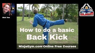 Step-by-step Back kick tutorial