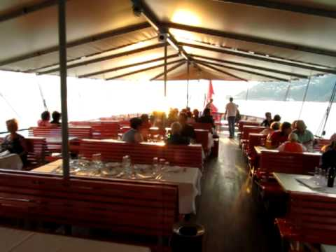 Sunset cruise with paddle wheel steamer on Lake Lucerne - Upper Deck