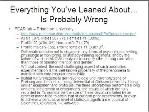 prePoF-5: Everything You've Learned About Mind-Matter Interaction Is Probably Wrong - PEAR Lab