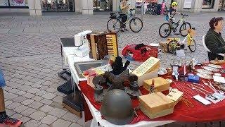 Барахолка в Германии. Что можно купить на блошином рынке в Германии (г. Хемниц).  Б/у из Германии