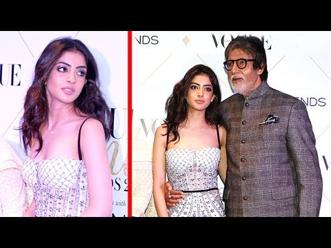 Amitabh Bachchan With Grand Daughter Navya Naveli Nanda First Video In Public