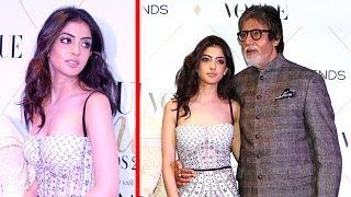 Amitabh Bachchan With Grand Daughter Navya Naveli Nanda First Video In Public