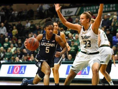 UConn Women's Basketball Highlights v. USF 01/06/2018