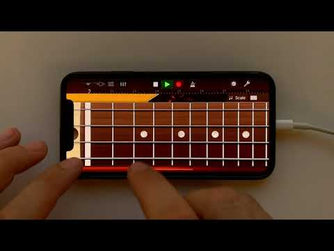 Queen - Another One Bites The Dust On IPhone (GarageBand)
