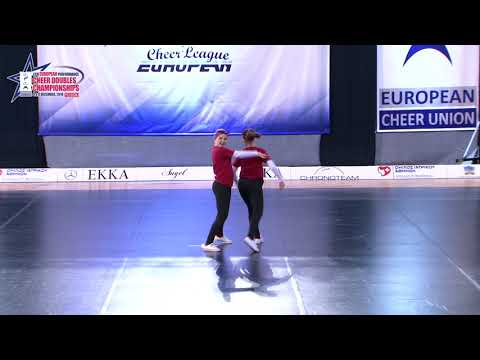 25 SENIOR DOUBLE CHEER HIP HOP Kudrańska   Taraszka SHIVA DANCE STUDIO POLAND