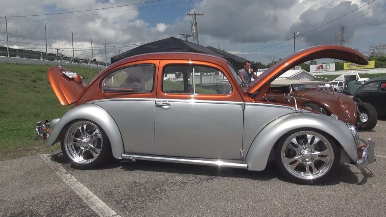 Very Cool Custom 1958 VW Beetle / Bug Hot Rod Nashville Speedway - YouTube