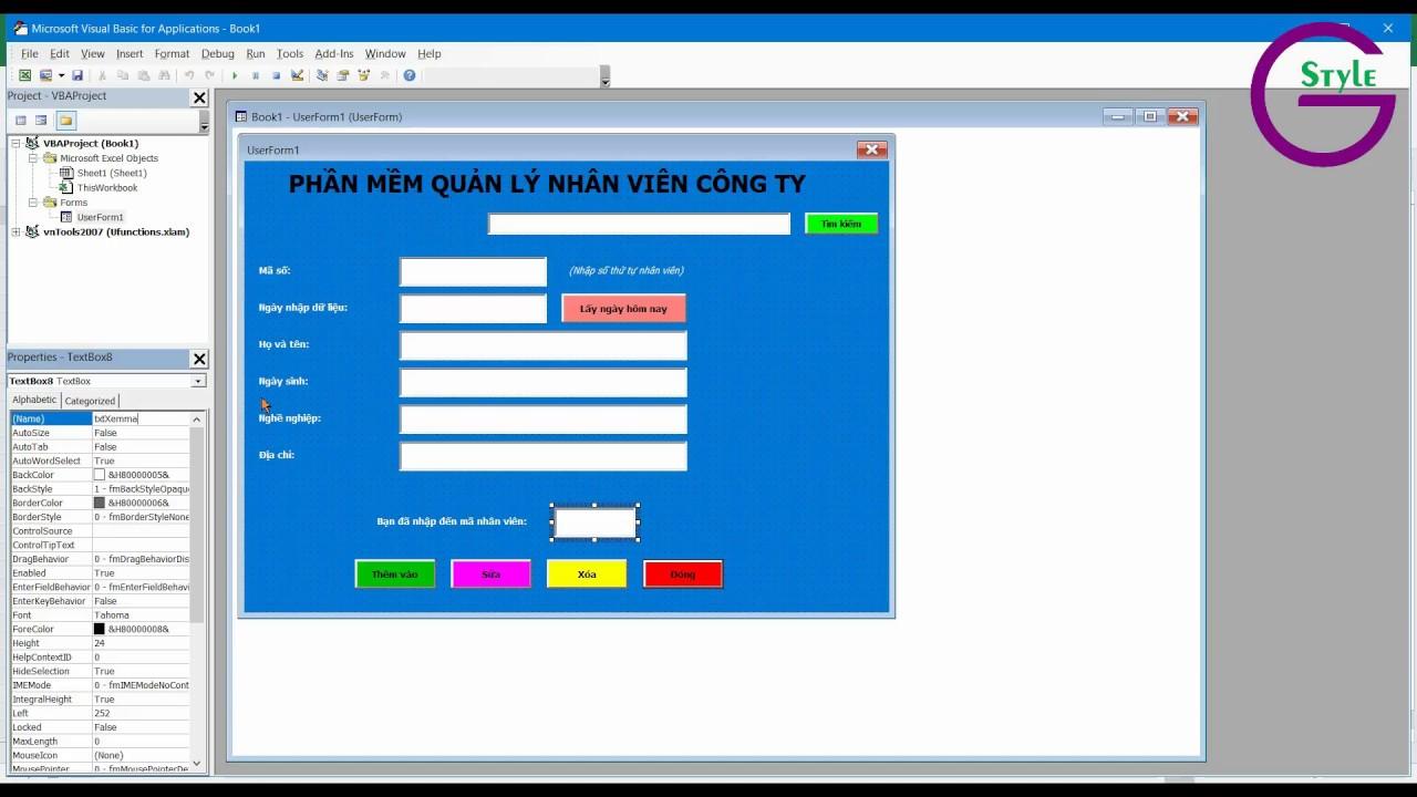 [VBA Excel] Bài 1 – Tạo form nhập liệu trên VBA