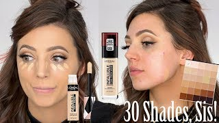 Is THIS The New Shape Tape?! Full Day Wear Test | Loreal 24hr Foundation and Full Wear Concealer