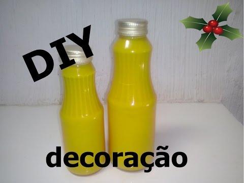 DIY :Decoração em amarelo com vidro,simples e barata