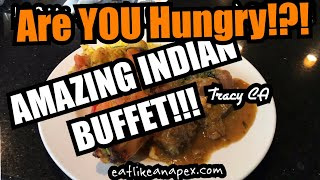 EAT & VLOG | INDIAN FOOD BUFFET & THE MAKING OF THE NAAN | SANSAR INDIAN CUISINE, TRACY CA