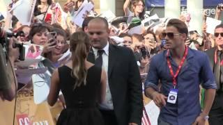 Lea Michele al Giffoni, bagno di folla dei fan
