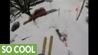 Epic downhill street skiing in Portland, Oregon