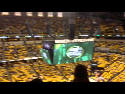 Bankers Life Fieldhouse scoreboard opening night Nov 3, 2012