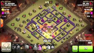 "Clan war against "" Leblebi Diyari "" 3 stars⭐️⭐️⭐️ to th9 